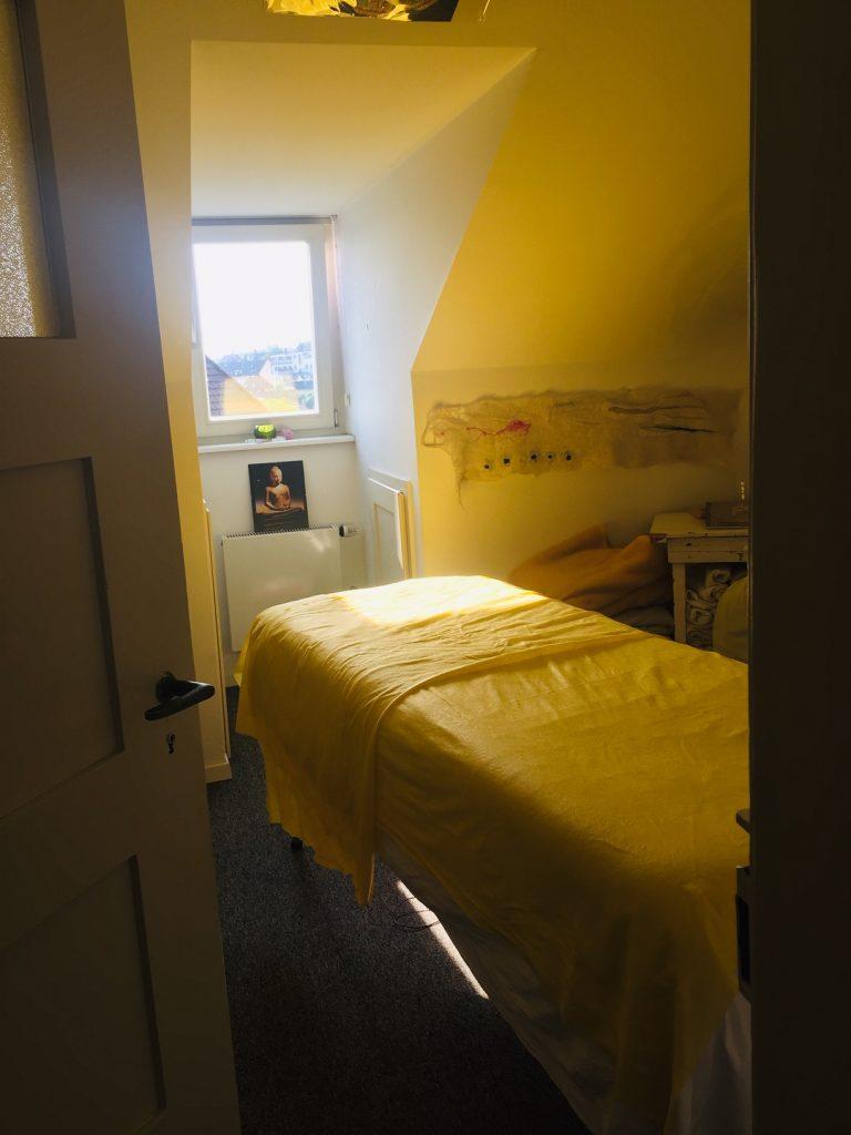 Massage Zimmer vorbereitet